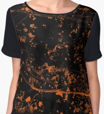 Whispers of nature - Orange Leaves Chiffon Top