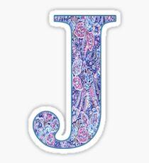 J Monogram Sticker