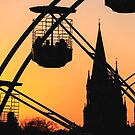 Ferris Wheel at Sunset by Donncha O Caoimh