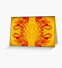 Energy Bodies Abstract Healing Artwork  Greeting Card