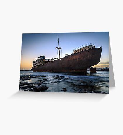 Telamon, AKA Temple Hall Shipwreck Greeting Card