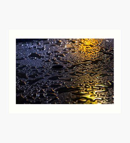 Rain Drops in Color Art Print