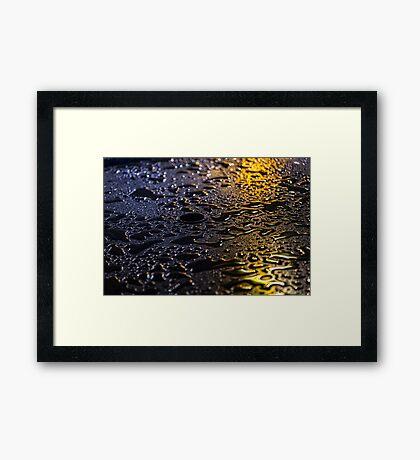 Rain Drops in Color Framed Print