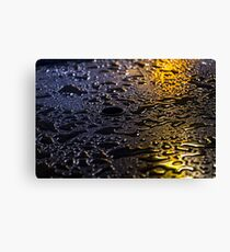 Rain Drops in Color Canvas Print