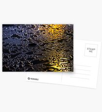 Rain Drops in Color Postcards
