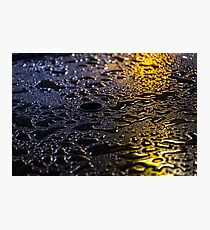 Rain Drops in Color Photographic Print