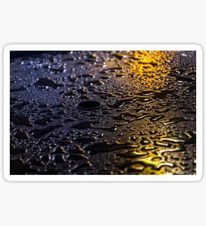 Rain Drops in Color Sticker