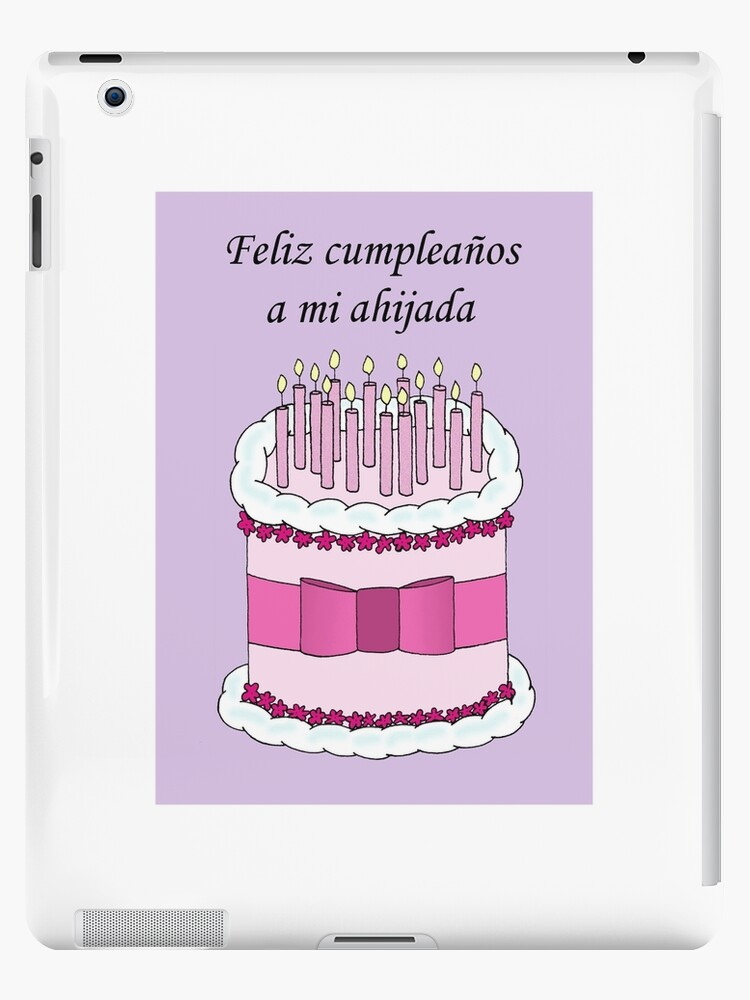 Happy Birthday Goddaughter In Spanish Ipad Case Skin By Katetaylor