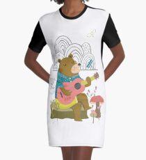 Happy Bear Day Graphic T-Shirt Dress