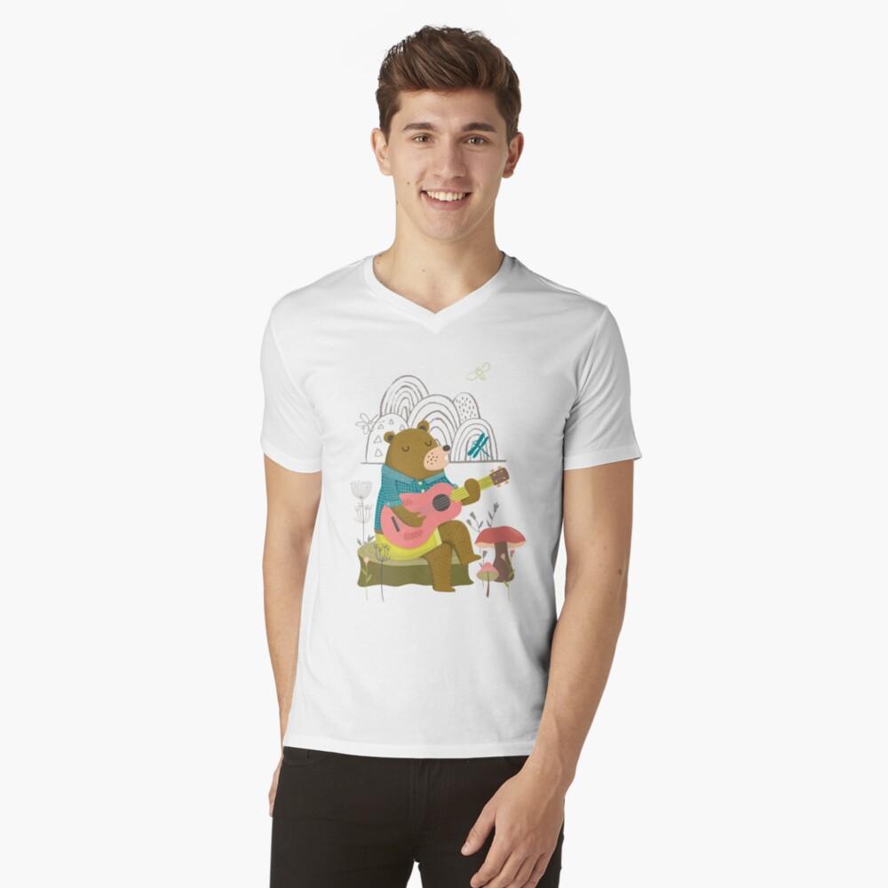 Happy Bear Day V-Neck T-Shirt
