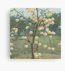Psychedelic Grapefruit Tree Canvas Print