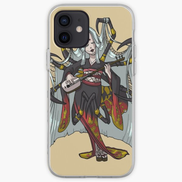 Spider Yokai Jorōgumo Playing Shamisen MONSTER GIRLS Series I iPhone Soft Case