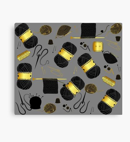Golden Yarn Canvas Print