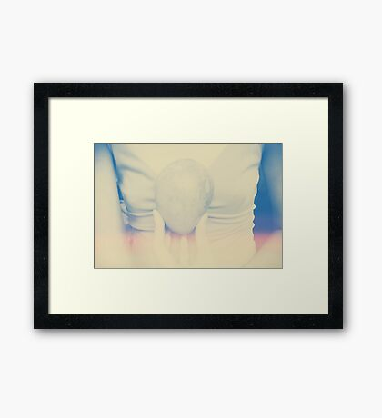 my heart before Framed Print