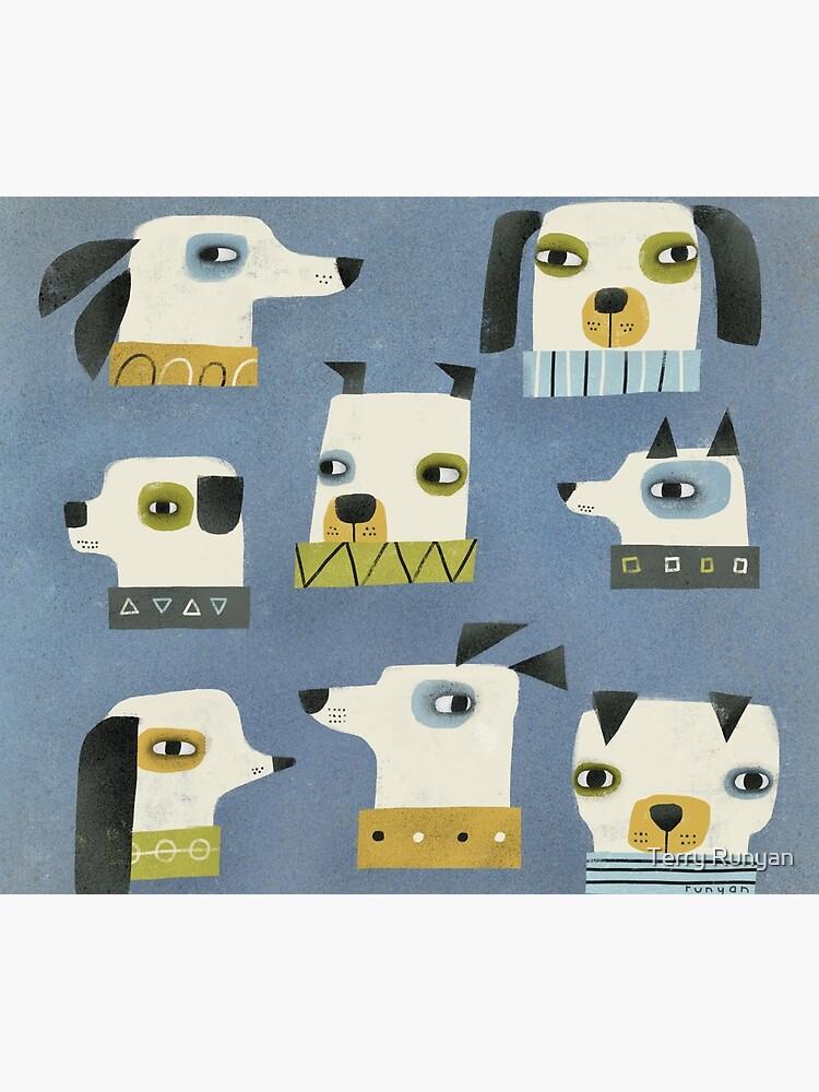 DOG HEADS by terryrunyan