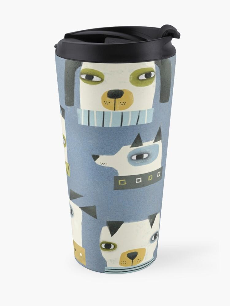 Alternate view of DOG HEADS Travel Mug