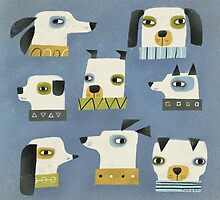 DOG HEADS by Terry Runyan