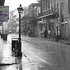 Rain & Bourbon St. by Doug Bonner