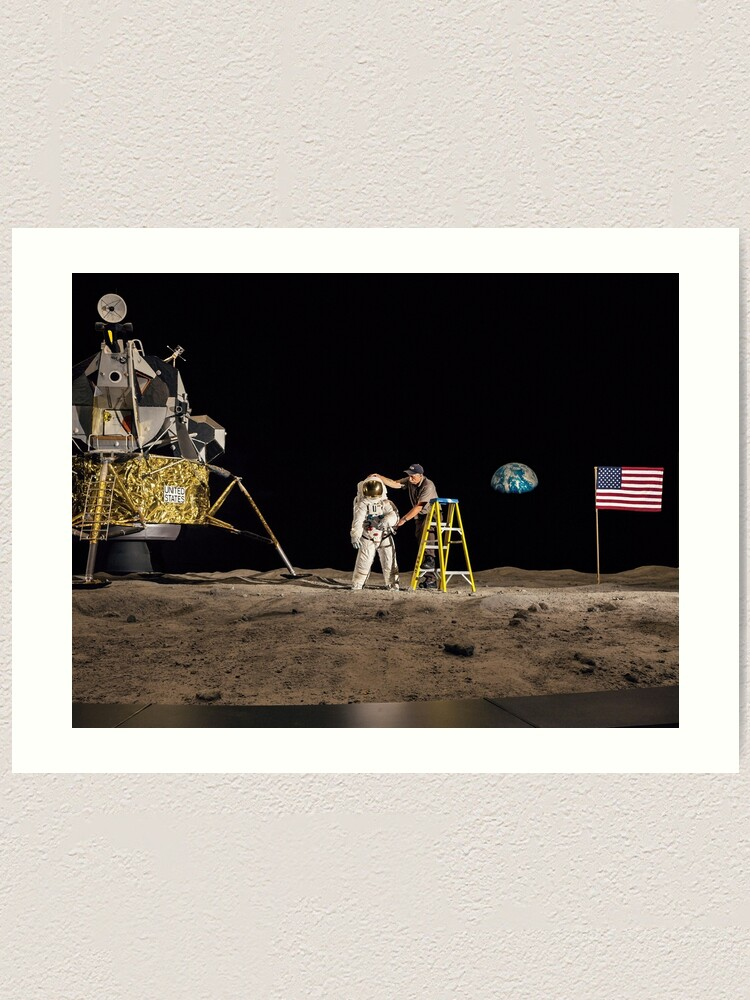 Alternate view of NASA Lies Moon Hoax Art Print