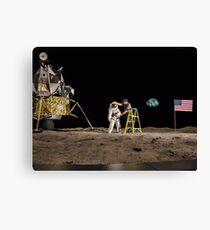 NASA Lies Moon Hoax Canvas Print