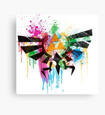 Hylian Paint Splatter Canvas Print