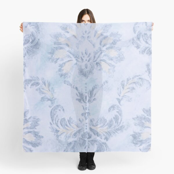 Blue Damask Scarf