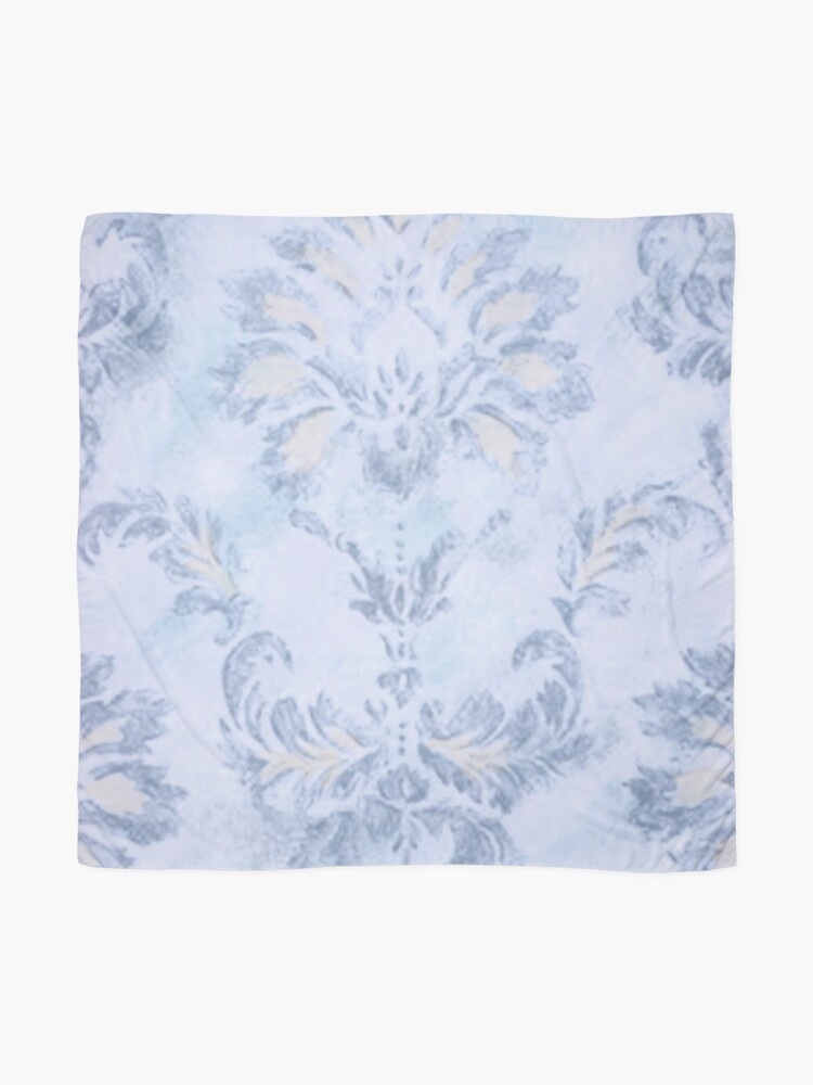 Alternate view of Blue Damask Scarf