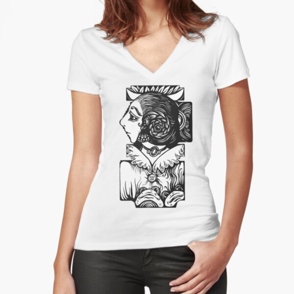 Toad Lady Fitted V-Neck T-Shirt