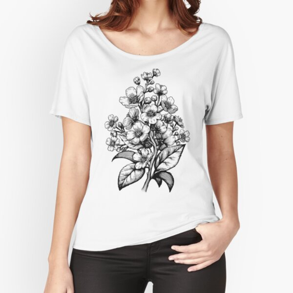 Cherry Blossom botanical Relaxed Fit T-Shirt