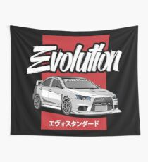 Automotive Evolusion Wall Tapestry