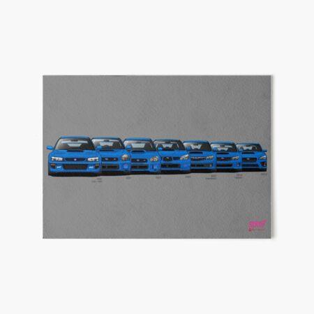 Subaru WRX STi generations - Poster V2 Art Board Print