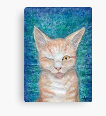 ;P  Seb the Groovy Cat by Amber Marine Canvas Print