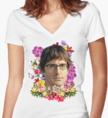 Louis Theroux Floral Women's Fitted V-Neck T-Shirt