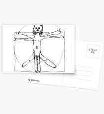 Vitruvian Man- Leonardo da Vinci Postcards