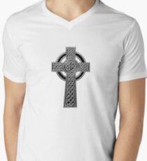 Celtic Religious Cross Christian Irish Men's V-Neck T-Shirt