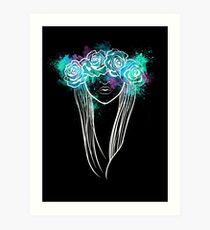 Elegant Mask - Dark Background Art Print