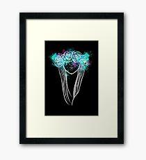 Elegant Mask - Dark Background Framed Print