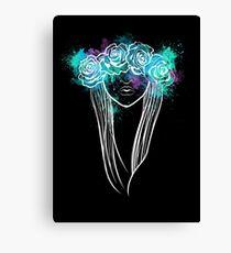Elegant Mask - Dark Background Canvas Print
