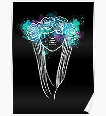 Elegant Mask - Dark Background Poster
