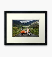 Series 2 Lambretta Hardknott Pass Framed Print