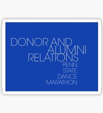 Donor and Alumni Relations Penn State Dance Marathon Sticker