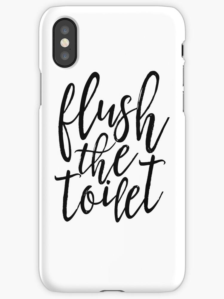 Vinilos y fundas para iPhone «lavar el inodoro, la decoración del ...