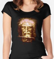 The Shroud of Turin Jesus Holy Face Women's Fitted Scoop T-Shirt