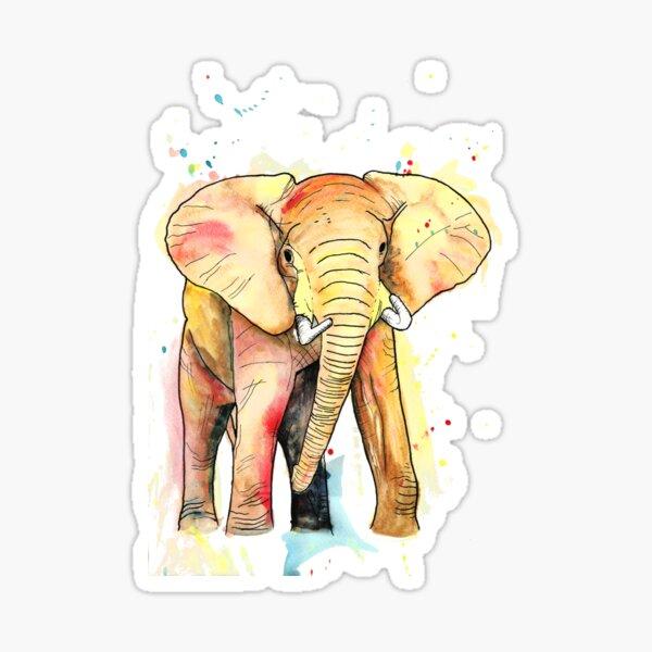 Elephant Watercolour Sticker