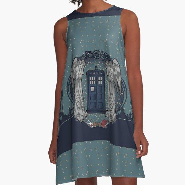 the Doctor crest ART NOUVEAU A-Line Dress