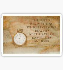 Pocket Watch Time Quote  Sticker