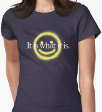 It is what it is - black version Women's Fitted T-Shirt