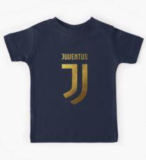 juventus new logo gold Kids Tee