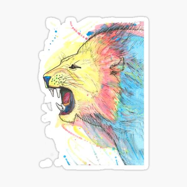 Lion Watercolour Sticker
