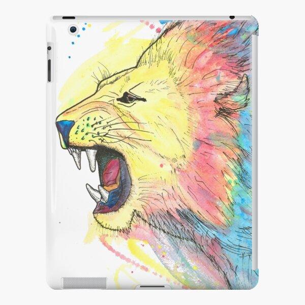 Lion Watercolour iPad Snap Case
